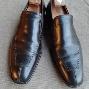 JOHNSTON & MURPHY MENS BROWN SLIP ON  DRESS SHOES